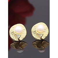 Bông Tai Ngọc Trai Cánh Lá Vàng B-1535 Bảo Ngọc Jewelry