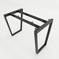 Bộ chân sắt Trapez hình thang cân sơn tĩnh điện màu đen 1200x580x730mm lắp ráp