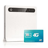 Huawei B593   Thiết bị phát wifi 3G/4G Chuẩn LTE Tốc Độ Cao+ Sim Viettel 4G Siêu tốc khuyến Mãi 60GB/Tháng - Hàng nhập khẩu