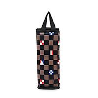 Túi giữ nhiệt bình nước caro lá cờ màu nâu