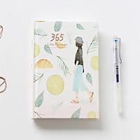 Sổ tay planner 365 Itoya, bìa trắng chanh, 228 trang