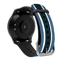 Dây Thay thế cho đồng hồ thông minh Q-Watch I-gotU Q-90, Q82 - màu Xanh Trắng - Hàng chính hãng