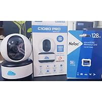 Camera Wifi, Đàm Thoại IP Vitacam C1080 Pro 3MP Thẻ nhớ 128GB Cảnh báo chuyển động , xoay chiều- Hàng Chính Hãng