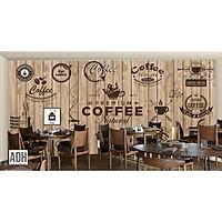 Tranh dán tường trang trí quán coffee ADH181228-9