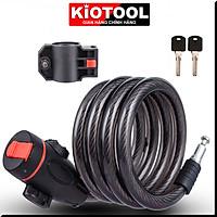 Khóa dây xe đạp Kiotool dây cáp chắc chắn an toàn