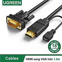Cáp HDMI sang VGA UGREEN MM117 - Hàng chính hãng