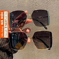 Kính râm thời trang gọng vuông kim loại mắt phân cực chống tia uv bảo vệ mắt K3007