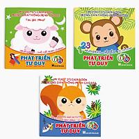 Combo 3 cuốn: Miếng dán Thông minh cho bé Phát triển tư duy IQ - My First Sticker Book