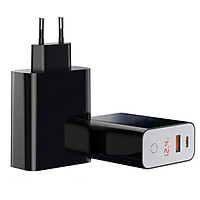 Adapter Sạc 2 Cổng 45W Baseus BS-EU907 Tích Hợp Tính Năng Smart Shutdown Hẹn Giờ Ngắt Điện Hỗ Trợ Sạc Nhanh QC 3.0 / QC 4.0 / FCP - Hàng Chính Hãng