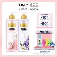 Combo sữa tắm nước hoa Cindy Bloom Aroma Flower mùi hương ngọt ngào nữ tính + Urban Vibes tự tin cuốn hút 640g
