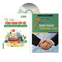 sách-combo 2 sách Tự học tiếng Trung cấp tốc trong kinh doanh bán hàng và Sổ tay 7 bước đàm phán thương mại (Song ngữ Trung - Việt có phiên âm)+DVD tài liệu