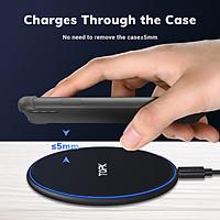 Sạc không dây Ins TOPK B02W 10W điện thoại không dây LED di động phổ thông sạc cho Samsung nhanh S10 S9 S8 Xiaomi mi9 - Hàng chính hãng