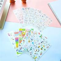 Combo 2 Bộ 6 Tấm Sticker Dán Trang Trí Pet Và Hong-E & Dding-Gu FF013