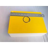 Flashcard trắng 15x21cm 100 thẻ trắng dùng để làm Flashcard theo phương pháp dạy con biết đọc sớm. 100 thẻ bo góc đục kèm khoen tặng bìa màu ngẫu nhiên