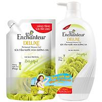 Sữa tắm hương nước hoa dưỡng da Enchanteur Delightful 6110828 650g - Tặng Túi sữa tắm Delightful 200g