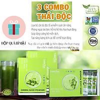 3 Hộp Combo Detox thải độc - Bột rau củ hữu cơ sấy lạnh Dalahouse - Mỗi hộp 21 gói 3gr với 7 loại rau củ có tác dụng bổ sung dinh dưỡng, hỗ trợ giảm cân, Thải độc, thanh lọc cơ thể