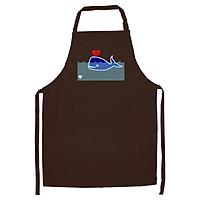 Tạp Dề Làm Bếp In Hình Cá voi yêu - DV003 – Màu Nâu