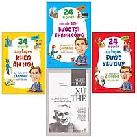 Sách: Combo: Lời Nhắn Nhủ Từ Bậc Thầy Giao Tiếp Dale Carnegie: 34 bí quyết giúp bạn khéo ăn nói+ 24 bí quyết dẫn dắt bạn bước tới thành công+ 24 bí quyết để bạn được yêu quý+Nghệ thuật xử thế