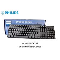 Bàn phím Philips SPT6254B (Đen) - Hàng Nhập Khẩu Chính Hãng