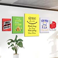 Bộ 5 tranh slogan canvas tạo động lực [trang trí văn phòng] vcb-c