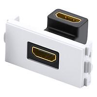 Đế HDMI âm tường bẻ góc 90 độ Ugreen 20318 - Hàng chính hãng