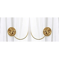 Móc treo rèm cửa mang phong cách tân cổ điển, kiểu dáng sang trọng MR02 - Chất liệu được làm từ đồng bền bỉ, mạ vàng đẹp mắt - Sản phẩm nhỏ không thể thiếu trong căn phong của nhà bạn.