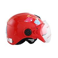 Mũ bảo hiểm trẻ em 1/2 đầu có kính hình công chúa cho bé gái chính hãng Bktec nón bảo hiểm cao cấ