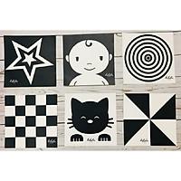 Bộ 6 thẻ dán tường đen trắng kích thích thị giác cho bé