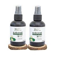 Combo 2 Gel nước rửa tay khô chống khuẩn mềm da The Herbal Skin 80ml