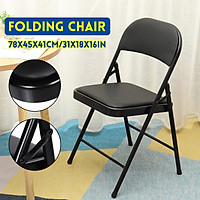 Alera Steel Folding Chair with Two-Brace Support Padded Back/Seat Graphite