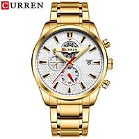 Curren Men Businiess Watch Exquisite Classic Alloy Case Stainless Steel Band Wrist Watch Fashion 3 ATM Waterproof Quartz