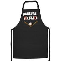Tạp Dề Làm Bếp In Hình Mens Baseball Dad Shirt - Best Gift Idea For Fathers- Hàng Cao Cấp