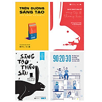 """Combo 4 Sách Vương Quốc Sáng Tạo: """"Trên đường sáng tạo""""+""""Sáng tạo thần sầu""""+""""Dave Trott bàn về sáng tạo & thương hiệu""""+""""90-20-30"""""""