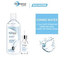 Combo cấp ẩm cho da Bio-Essence Bio-Water (Tinh chất Gel Vitamin B5 30ml + Nước tẩy trang Micellar Water 400ml)