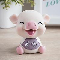 Decor heo, lợn thần tài màu hồng vô cùng đáng yêu , trang trí taplo ô tô, phụ kiện xe hơi sáng tạo, hoặc để bàn làm việc