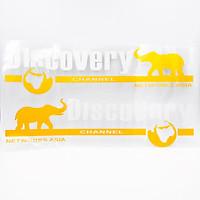 Set 2 Sticker hình dán Transfer Xe hơi Ô tô Discovery Chanel - Chữ Trắng - Size 33x9 cm
