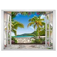 Decal dán tường cửa sổ cảnh biển VT0007