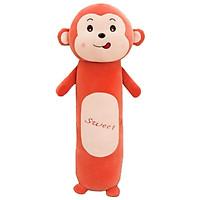 Gối ôm khỉ dài 60cm vải nhung mịn