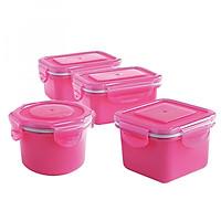 Hộp đựng đồ ăn dặm an toàn - Set 4 hộp kín Angel food UINLUI