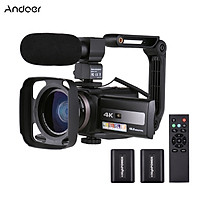 Andoer 4K 60FPS Ultra HD Digital Video Camera DV Camcorder 48MP 16X Zoom 3-inch Rotatable LCD Touch Screen WiFi Sharing