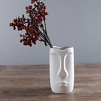 Bình gốm trang trí hình mặt người - GHMN01