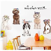 Decal dán tường những chú chó đáng yêu cho bé XL8359