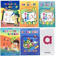 Combo 5 cuốn chuẩn bị cho bé vào lớp 1 (tặng kèm bộ thẻ học chữ số và chữ cái)
