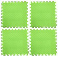 Bộ 4 tấm Thảm xốp lót sàn an toàn Thoại Tân Thành - màu xanh chuối (60x60cm)
