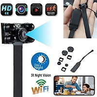 Camera Mini Hồng Ngoại Tầm Nhìn Ban Đêm Tốt WiFi Từ Xa 4K FullHD 1080P Siêu Nét