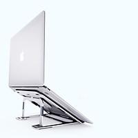 Giá Đỡ Laptop Macbook Máy Tính Xách Tay Hợp Kim Nhôm, 6 Độ Cao Có Thể Điều Chỉnh; Hàng Nhập Khẩu - Trắng Bạc