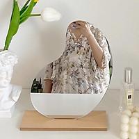 Gương để bàn hình củ lạccó đế