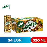 Thùng 24 Lon Nước Ngọt Có Gas Mirinda Đá Me (320ml/Lon)