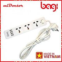 Ổ Cắm Điện Đa Năng Bagi 3 Ổ Điện + 4 Cổng USB