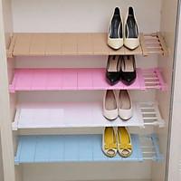 Kệ để đồ đa năng cao cấp không cần khoan vít, có bệ đỡ hình hoa văn, chia ngăn tủ quần áo, giày dép KDNHT